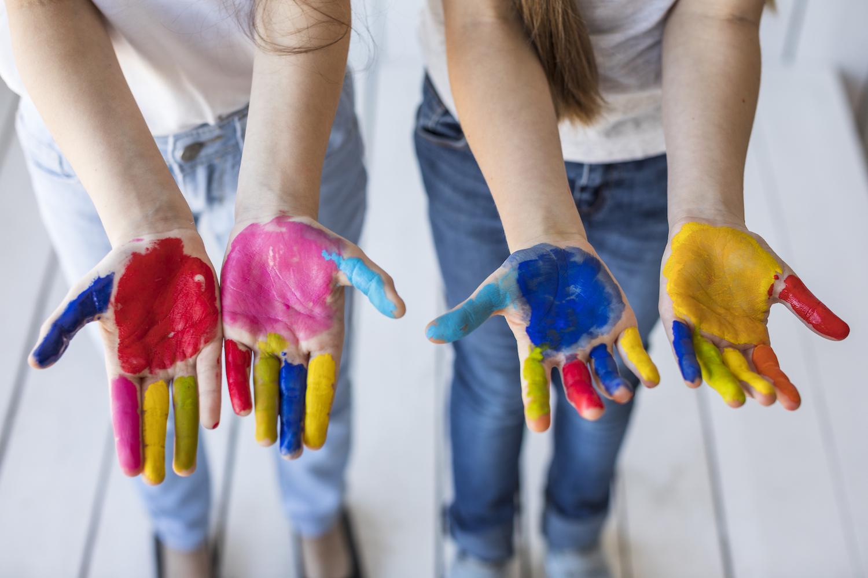 I colori a dita!